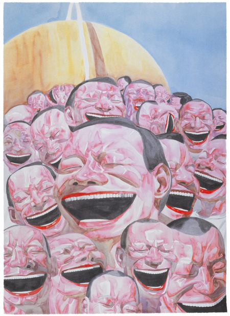 Yue Minjun-Untitled (Smile-ism No. 3)3-2006