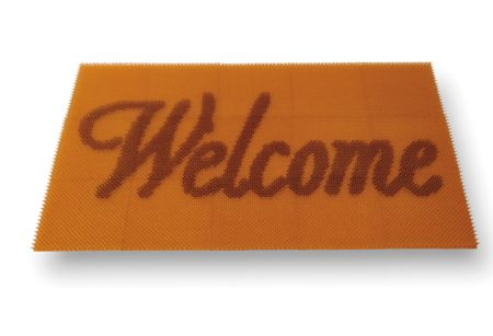 Doormat: Welcome (Amber)-2000