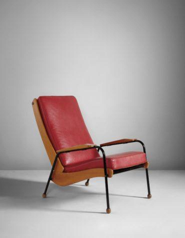 Jean Prouve - Rare 'Visiteur' armchair, model no. 350-1952