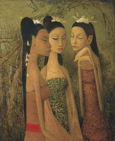 Cheong Soo Pieng-Dancers In Bali-1982