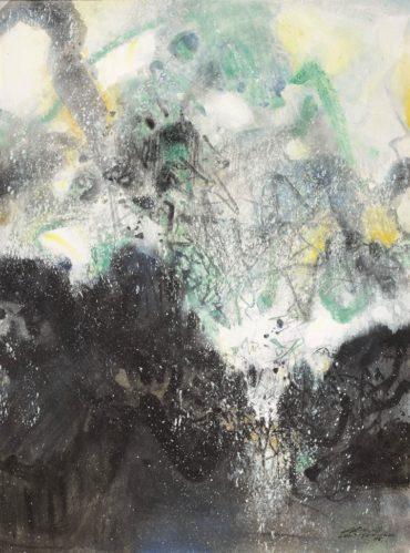 Chu Teh-Chun-Paysage D'Hiver (Winter Landscape)-1985
