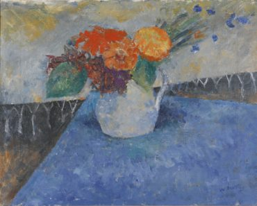William Scott-Flowers On A Blue Cloth-1938