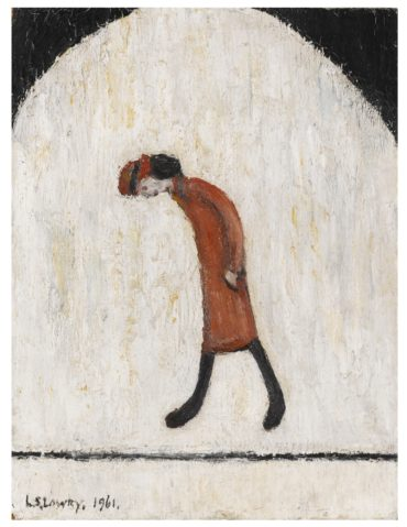 Laurence Stephen Lowry-Woman In Red-1961