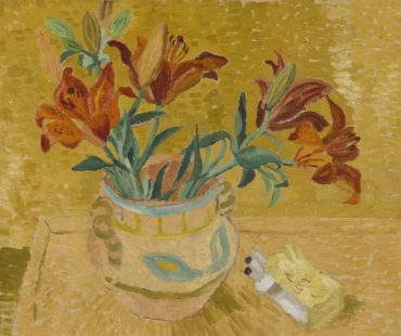 Christopher Wood-Lilies In A Decorated Bowl-1928