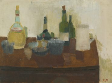 Victor Pasmore-Still Life With Wine Bottles-1936