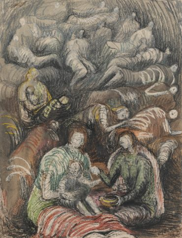 Henry Moore-Shelter Drawing-1942