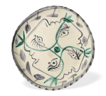 Pablo Picasso-Quatre Profils Enlaces (A. R. 86)-1949