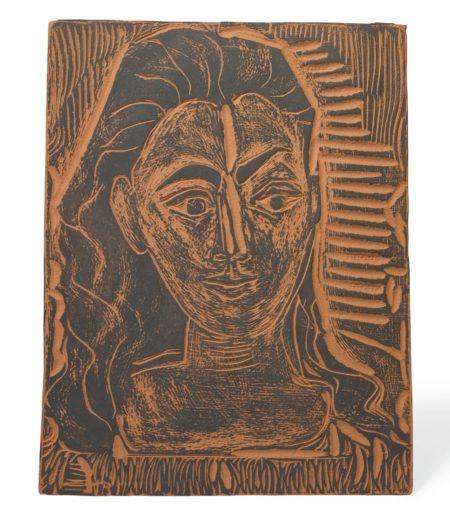 Pablo Picasso-Petit Buste De Femme (A. R. 523)-1964