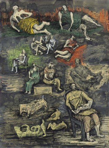 Henry Moore-Mothers and Children and Reclining Figures-1944