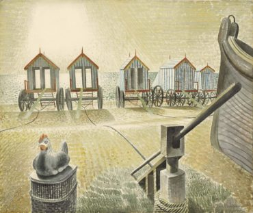 Eric William Ravilious-Aldeburgh Bathing Machines-1938