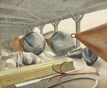 Eric William Ravilious-Buoys and Grappling Hook-1933