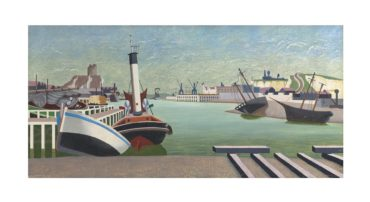 Edward Wadsworth-Imaginary Harbour I-1934
