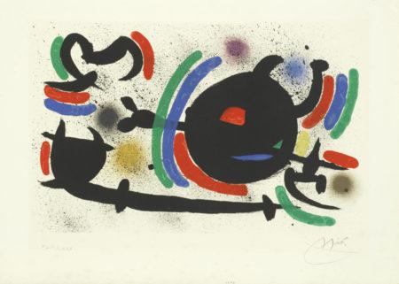 Joan Miro-Lithographs I - Plate 12 (Mourlot 866, Cramer 160)-1972