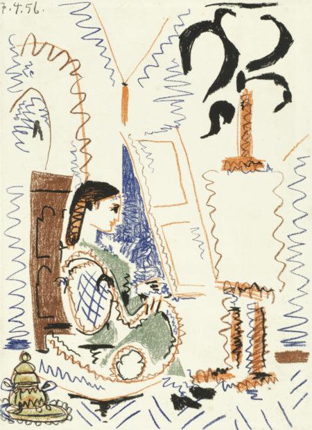 L'Atelier de Cannes, from 'Dans l'Atelier de Picasso' (Mourlot 279; Bloch 794)-1956