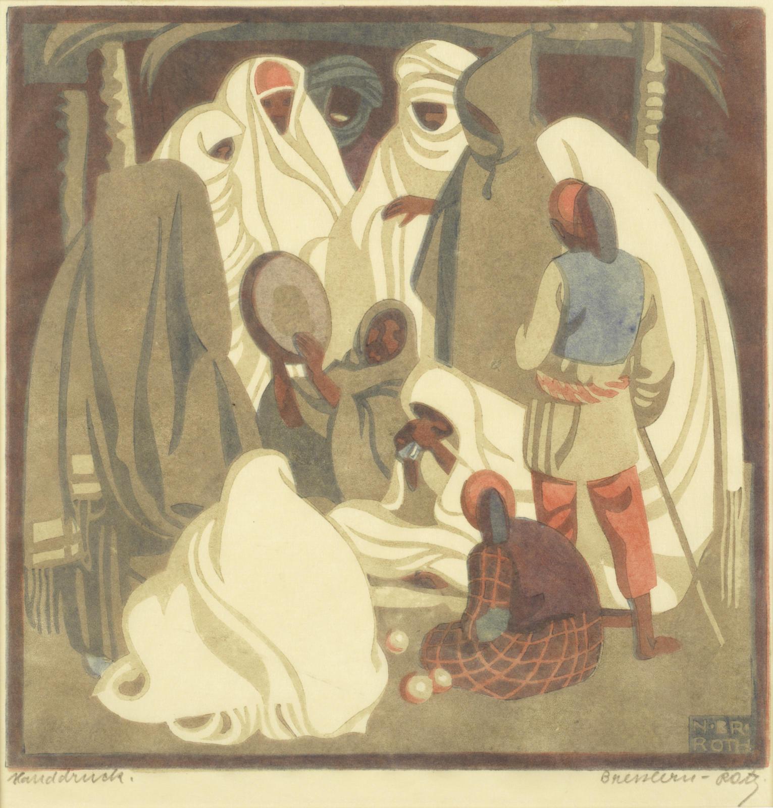 Norbertine von Bresslern-Roth-Musikanten; Altstadt; Blaues Haus, from 'Tripolis series'-1928