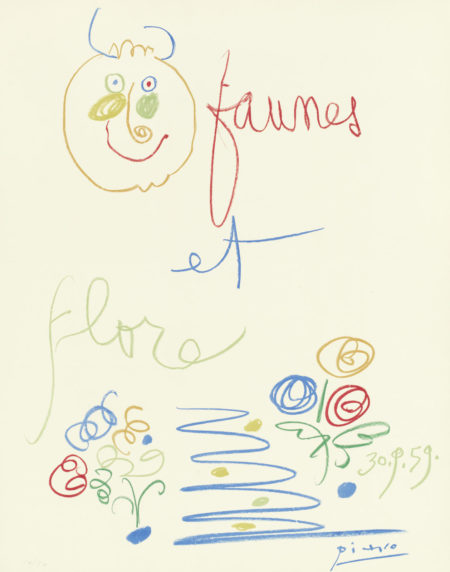 Pablo Picasso-After Pablo Picasso - One plate from 'Faunes et Flore d'Antibes'-1960