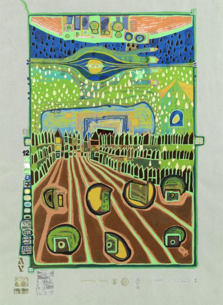 Strasse der Uberlebenden, Plate 2, from 'Regentag - Look at it on a rainy day' (Koschatzky 45)-1971