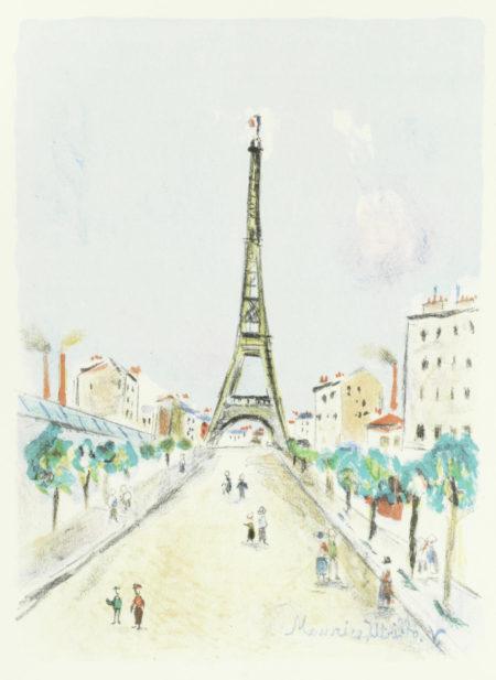 Maurice Utrillo-Paris Capitale-1955