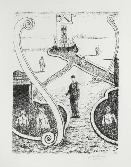 Giorgio de Chirico-Mysterious Baths - One Plate-1966