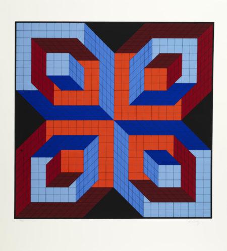 Victor Vasarely-Idiom-Stri; Gestalt-Fel-1987