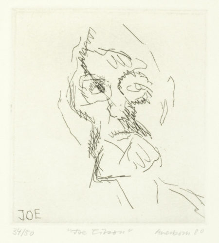 Frank Auerbach-Joe Tilson, from 'Six Etchings of Heads' (Marlborough Graphics 9)-1980