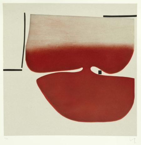 Victor Pasmore-Senza Titolo (Red)-1982