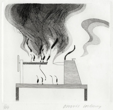 David Hockney-The Lathe and The Fire, from 'Illustrations for Six Fairy Tales from the Brothers Grimm' (MCA Tokyo 92)-1969