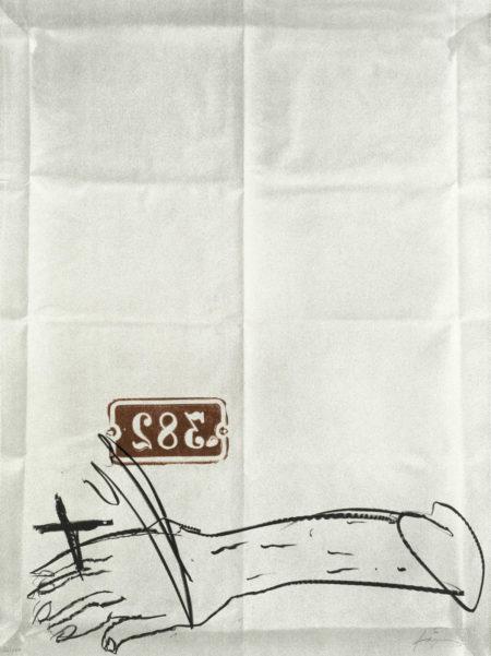 Antoni Tapies-Bras et chiffres-1997