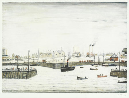 Laurence Stephen Lowry-Harbour Scene-1972