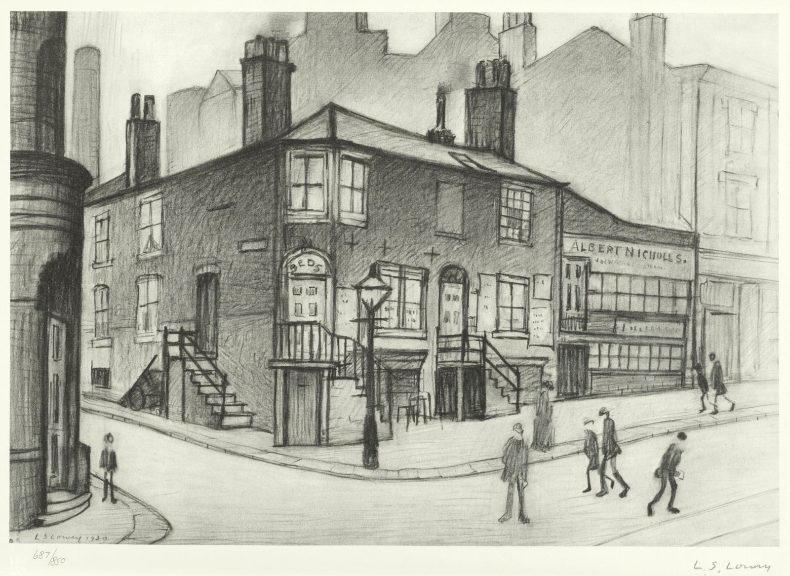 Laurence Stephen Lowry-Great Ancoats Street