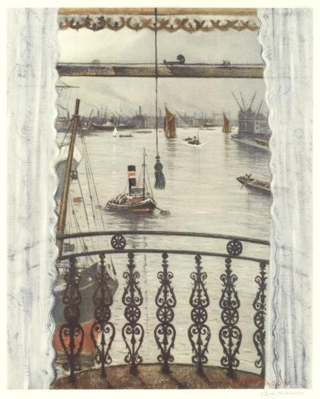 Christopher R. W. Nevinson-After Christopher Richard Wynne Nevinson - Greenwich Reach-