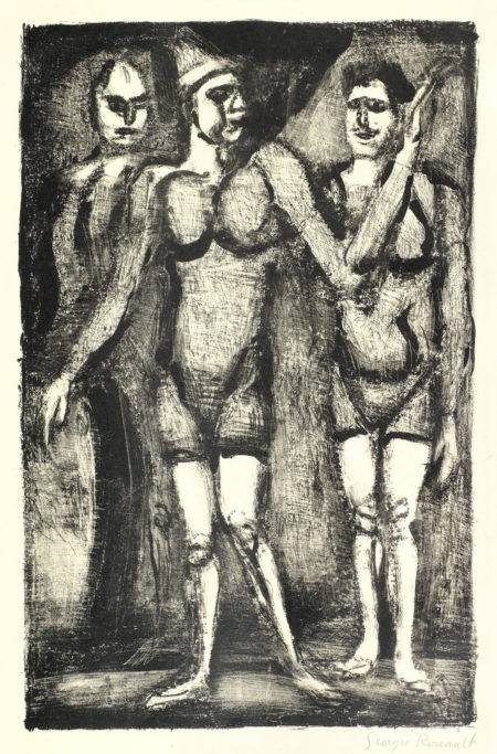 Georges Rouault-Three Lithographs (Chapon 324, 322, 319): Lutteuse, Bonimont du Clown, Parade-1929