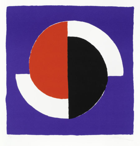 Composition fond bleu-1964