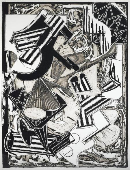 Frank Stella-La Penna di Hu (Black & White)-1988