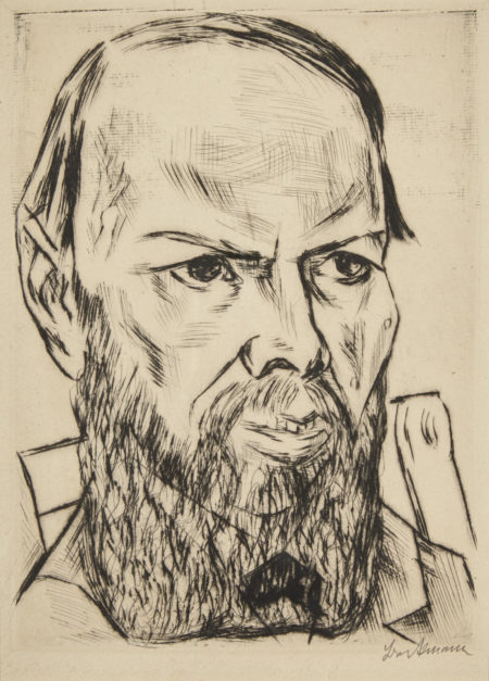 Max Beckmann-Dostojewski I (H. 186; Ga. 159)-1921
