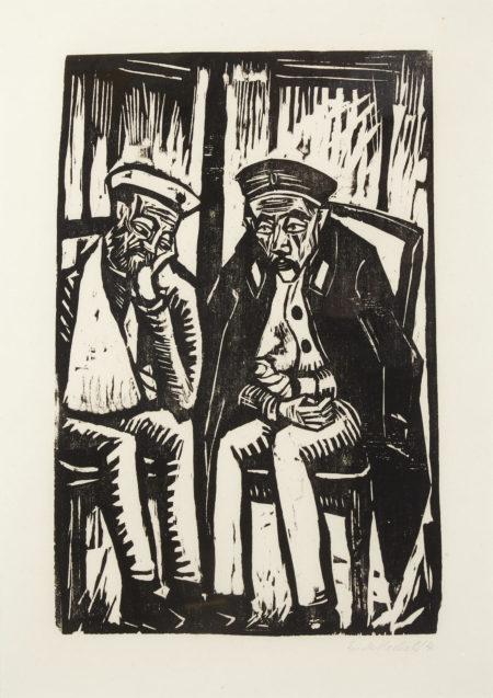Erich Heckel-Zwei Verwundete (D. 276)-1914