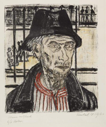 Erich Heckel-Mann mit Hut (D. 375a)-1952