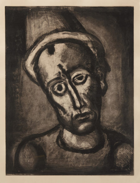 Georges Rouault-Qui Ne Se Grime Pas?, pl. 8, from Miserere (Self Portrait)-1922
