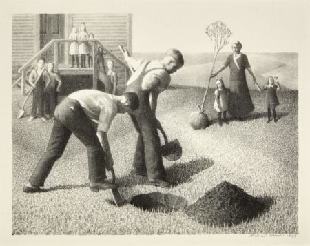 Grant Wood-Tree Planting Group (C. 1)-1937