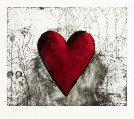 Jim Dine-The Little Heart in a Landscape (C. 48)-1991