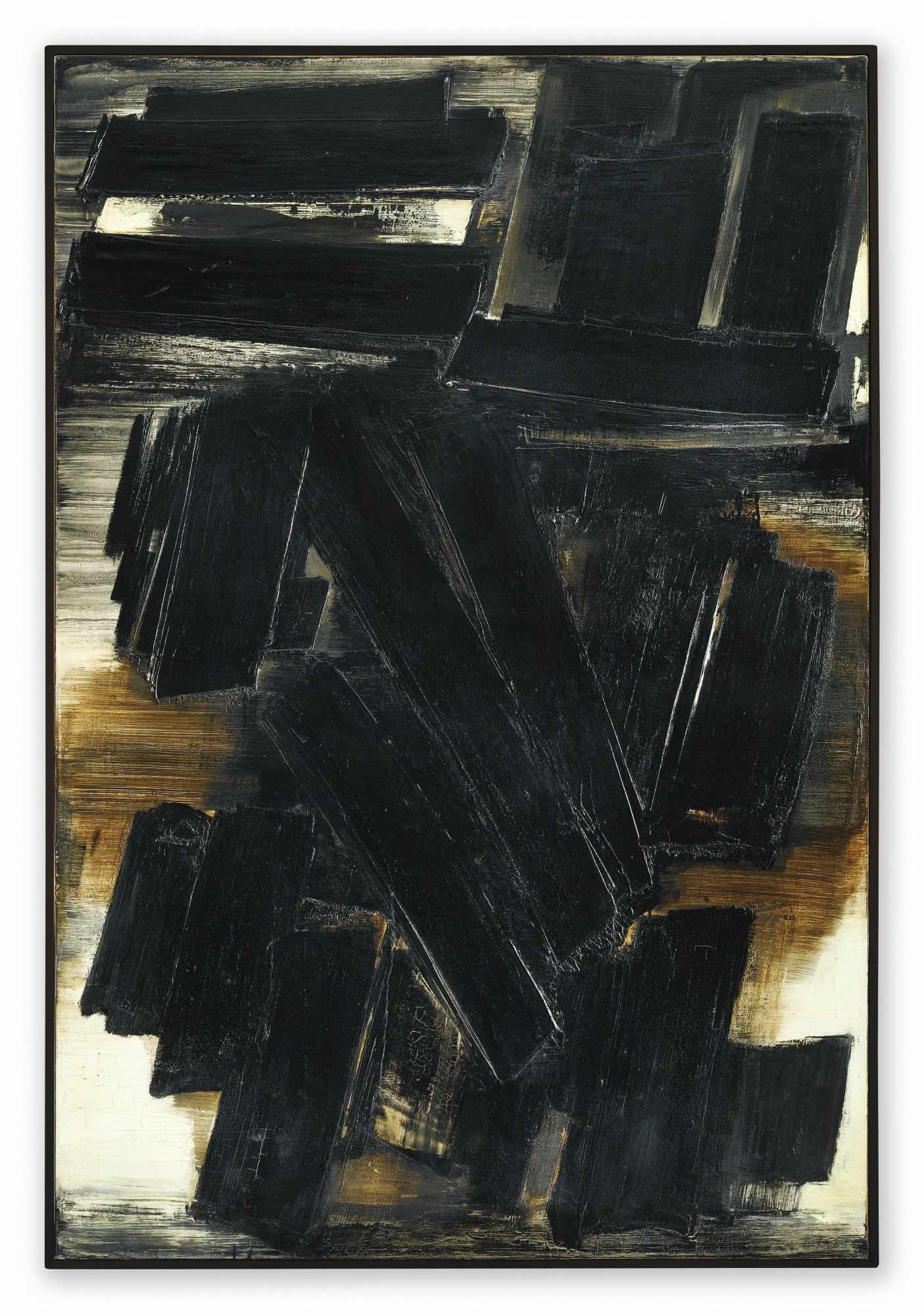 Pierre Soulages-Peinture 195 x 130 cm 7 Mars 1958-1958