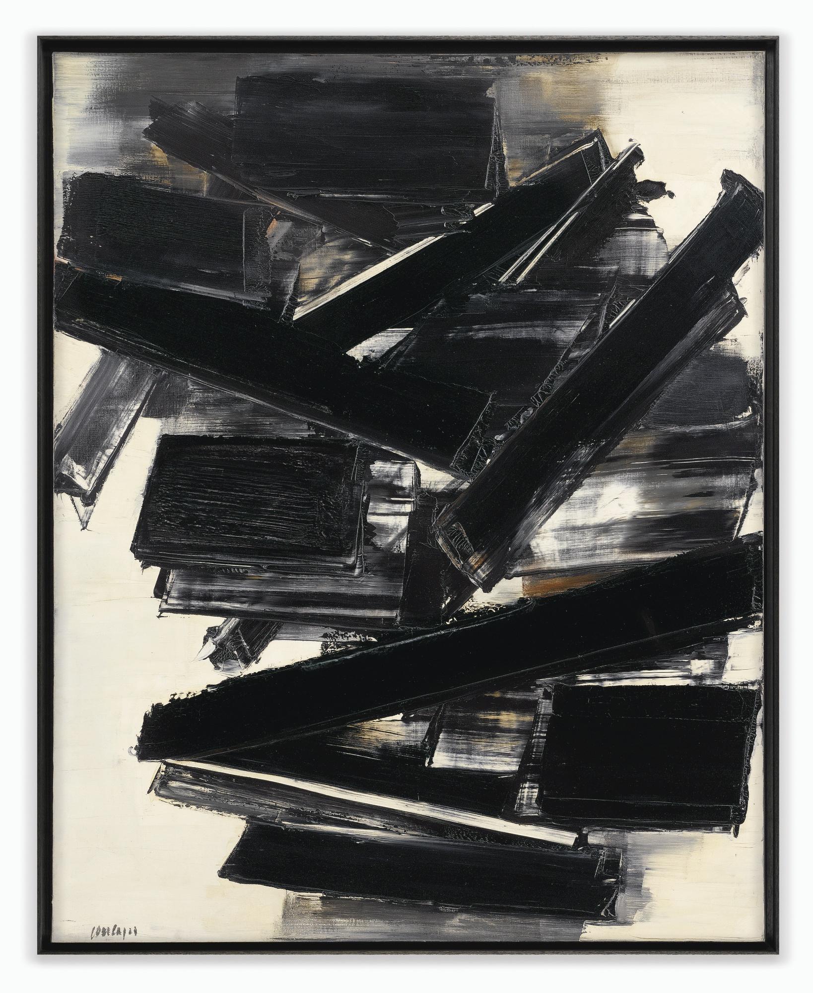 Pierre Soulages-Peinture 162 x 130 cm 14 Decembre 1958-1958