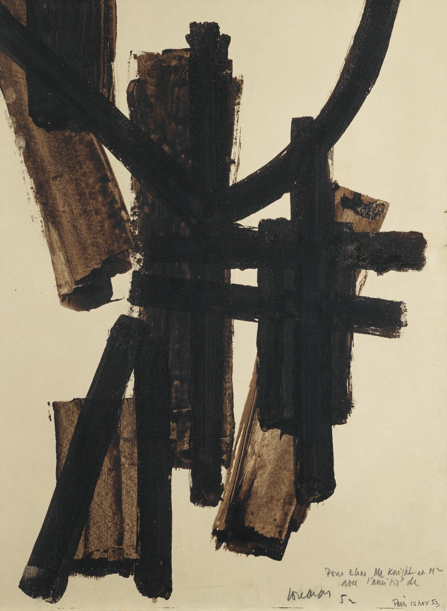 Pierre Soulages-Brou De Noix 65 x 50 cm 1952-1952