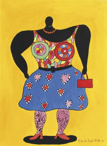 Niki de Saint Phalle-Big Lady Black-1994