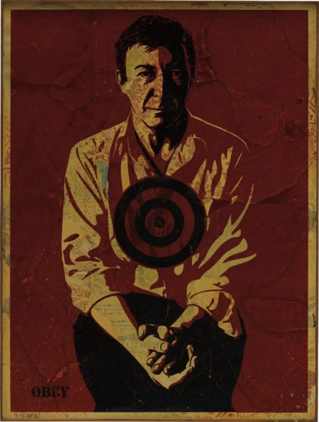 Shepard Fairey-Jasper Johns Red-2010