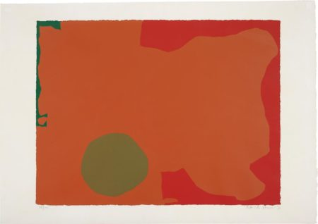 Patrick Heron-Umber Disk and Red Edge-1970