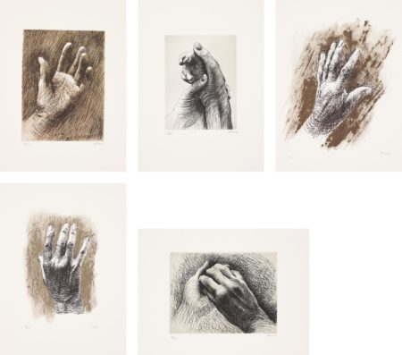 Henry Moore-The Artist's Hand-1980