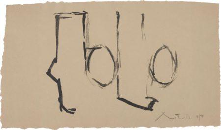 Robert Motherwell-Spanish Elegy I-1975
