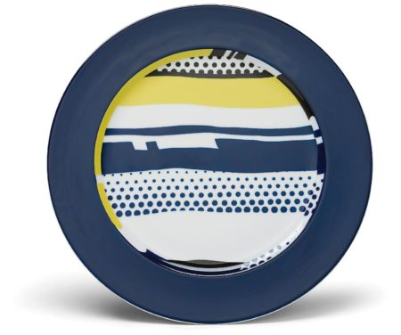 Roy Lichtenstein-Six abstract service plates-1990