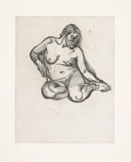 Girl Holding Her Foot-1985